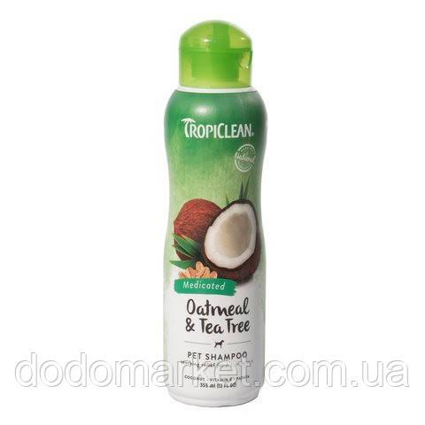 Tropiclean Oatmeal & Tea Tree шампунь для собак 355 мл