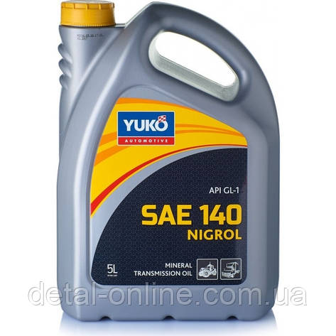 Минеральное трансмиссионное масло  YUKO Нигрол-Л (GL-1, SAE 140) канистра 5л, фото 2