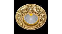 Латунный потолочный встраиваемый светильник PRATO, яркое золото