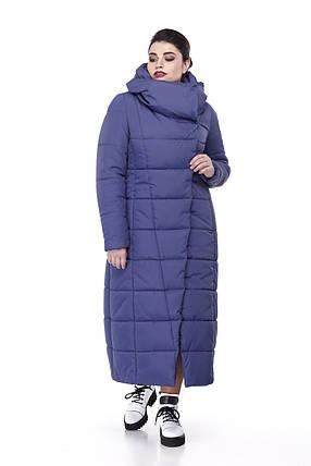 Длинная теплая стеганная зимняя куртка зима 2019 размеры 42-56, фото 2 0fc8f385d21