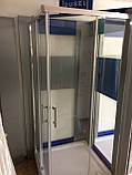 Душевая кабина Dusel А-513, 100х100х190, двери раздвижные, стекло прозрачное, фото 5
