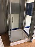 Душевая кабина Dusel А-513, 100х100х190, двери раздвижные, стекло прозрачное, фото 6