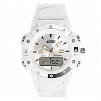 Skmei 0821 easy II білі жіночі спортивні годинник