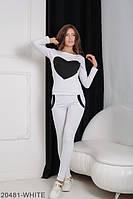 Удобный и стильный молодежный спортивный костюм с принтом сердце Williams