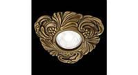 Латунный потолочный встраиваемый светильник CHIANTI, яркая патина