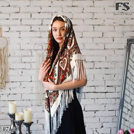 Женский павлопосадский платок Виталина, фото 2