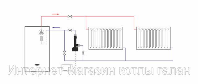 Схема последовательного подключения электро котла «ГАЛАН»