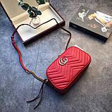 Сумка, клатч Гучи Marmont колір червоний, натуральна шкіра, фото 5