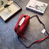 Сумка, клатч Гучи Marmont колір червоний, натуральна шкіра, фото 4