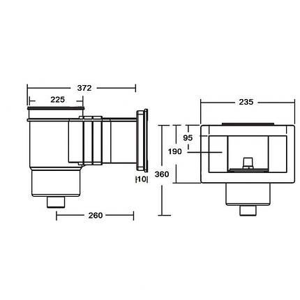 Скиммер для бассейна под бетон Standard KRIPSOL SKS.C, фото 2