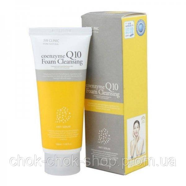 Пенка для умывания с с коэнзимом Q10 3W CLINIC Coenzyme Q10 Foam Cleansing