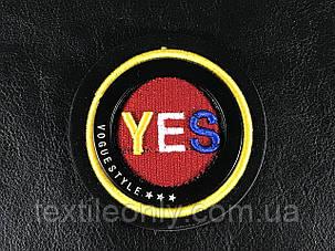 Нашивка Yes 65 мм, фото 2
