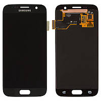 Дисплейный модуль (экран и сенсор) для Samsung Galaxy S7 G930, черный, оригинал #GH97-18523A