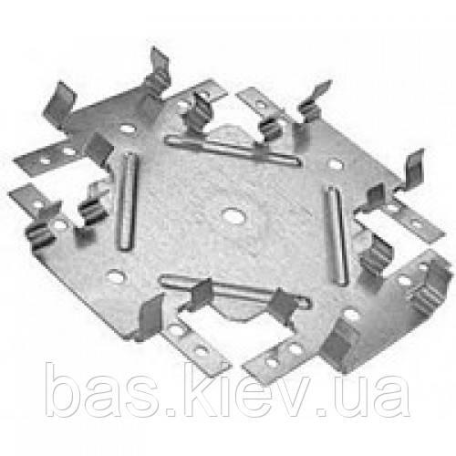 Соединитель одноуровневый для CD профиля КРАБ 148х148 (0,8 мм)