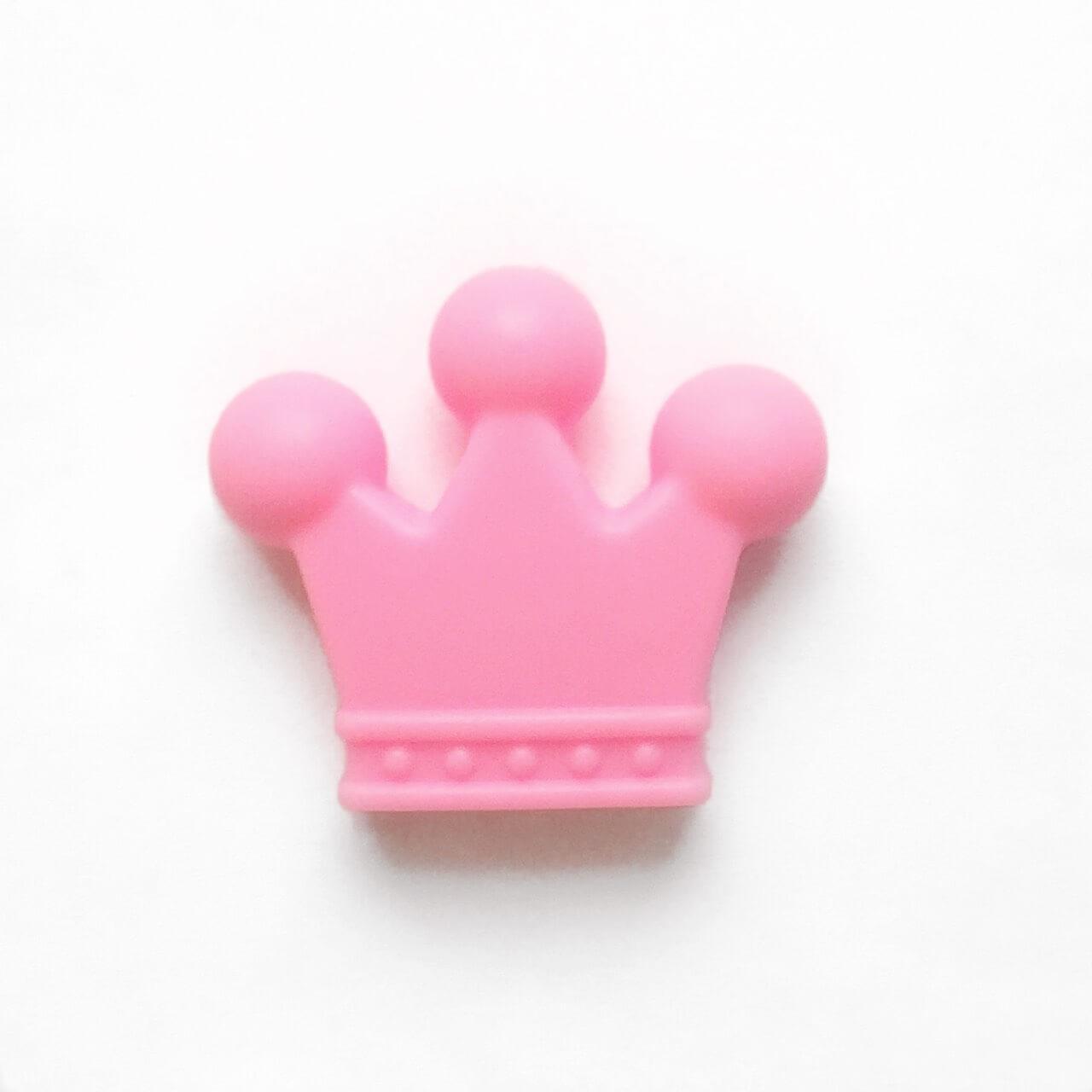 Корона (розовый) бусина из пищевого силикона