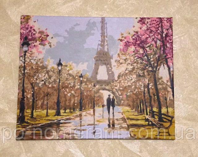 Нарисуй картину с видами Парижа