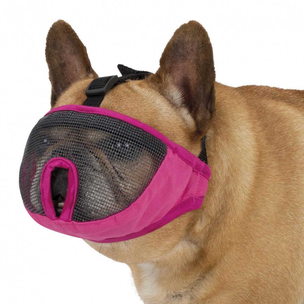Trixie Намордник  для брахицефалов,тканевый, XS–S: 15 см, розовый