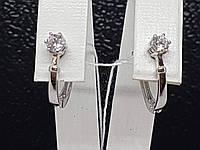 Золотые серьги с фианитами. Артикул 211330_2Б, фото 1
