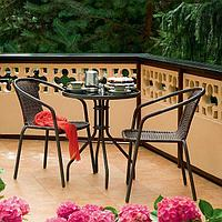 Садовой мебели Bistro балкон стол +2 стула