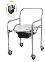 Кресло с санитарным оснащением, с колесиками, регулируемое (KT-771)