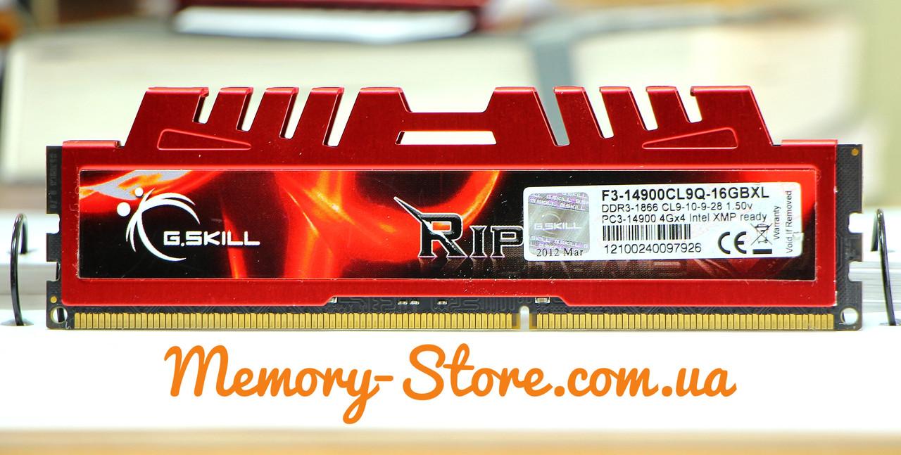 Оперативна пам'ять G. Skill DDR3 DDR3 4Gb PC3-14900 1866MHz (б/у)