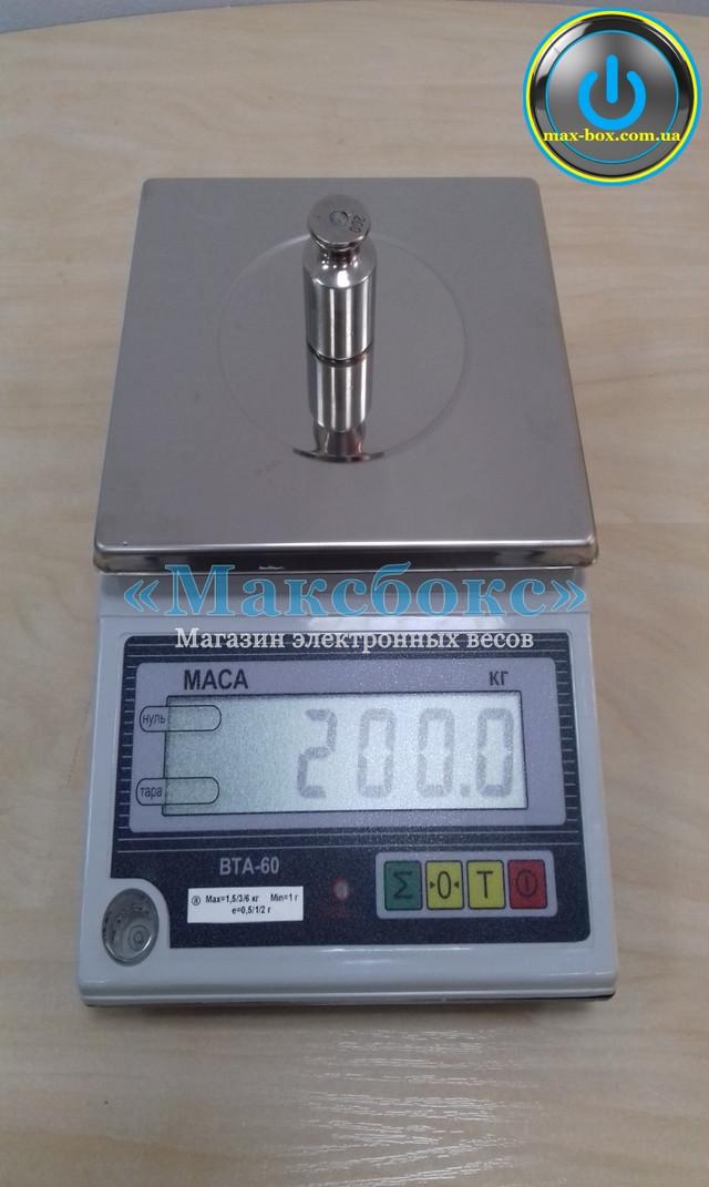 Весы фасовочные ВТА 60 с подключением к ПК.