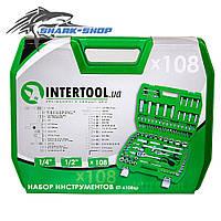 "Intertool набор инструментов 1/2"" & 1/4"", 108ед., ET-6108SP"