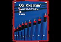Набор выколоток 9 предметов с рукояткой KING TONY 1009GPN (Тайвань)