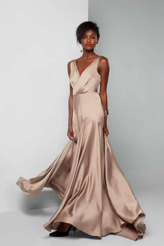 сатин, платье