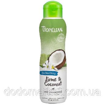 Tropiclean Lime & Coconut шампунь против линьки для собак 355 мл