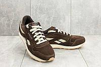 Мужские кроссовки искусственная замша весна/осень коричневые Classica G 9168 -11, фото 1