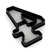 Вырубка для пряников Цифра 4 высотой 9 см (3D)