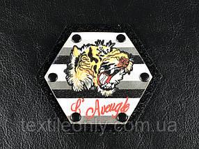 Нашивка Тигр 80x70 мм