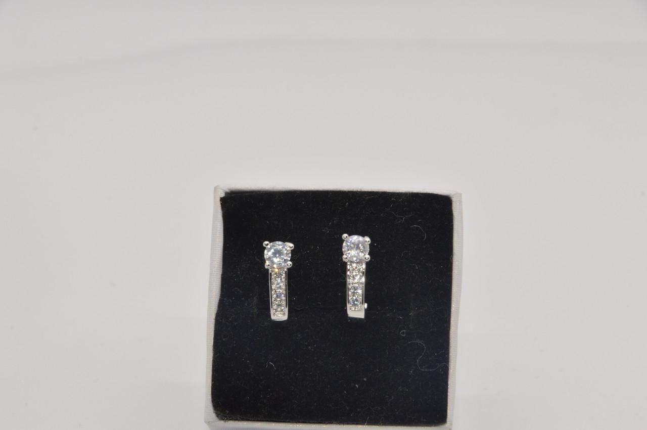 Серебряные серьги Загадка стерлинговое серебро 925 пробы (код 0011)