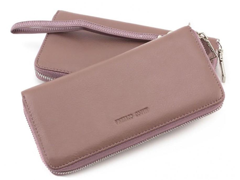 e9324589445f Кожаный женский кошелек HORTON TRW-22993A-DP, розовый — только ...