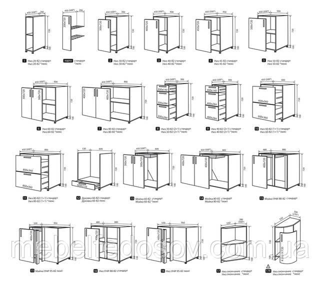 кухня мода нижние модули