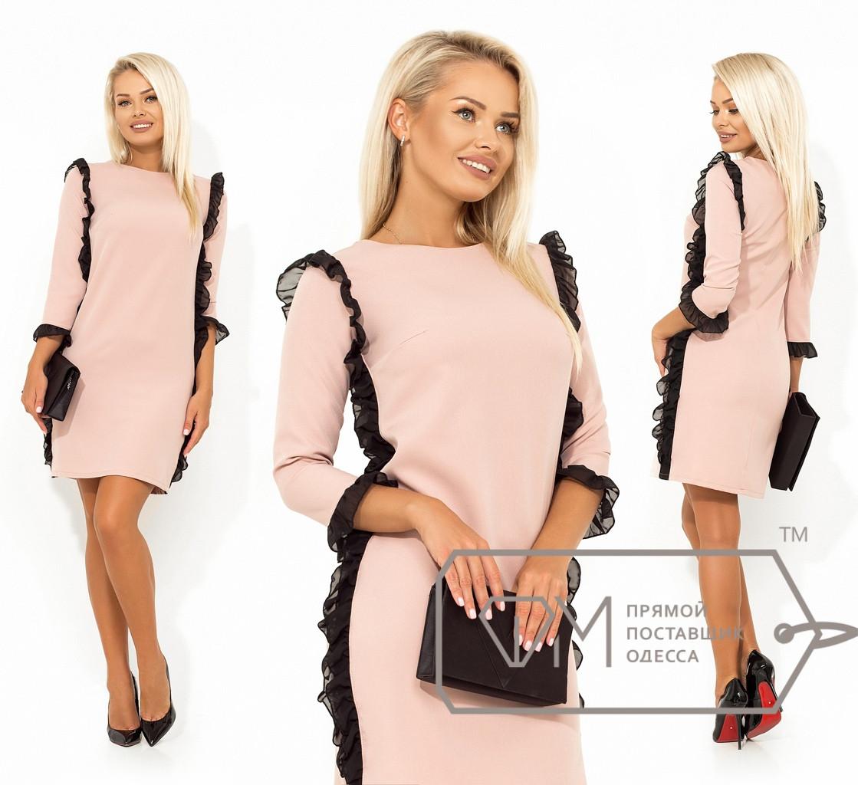 Нарядное платье с оборками