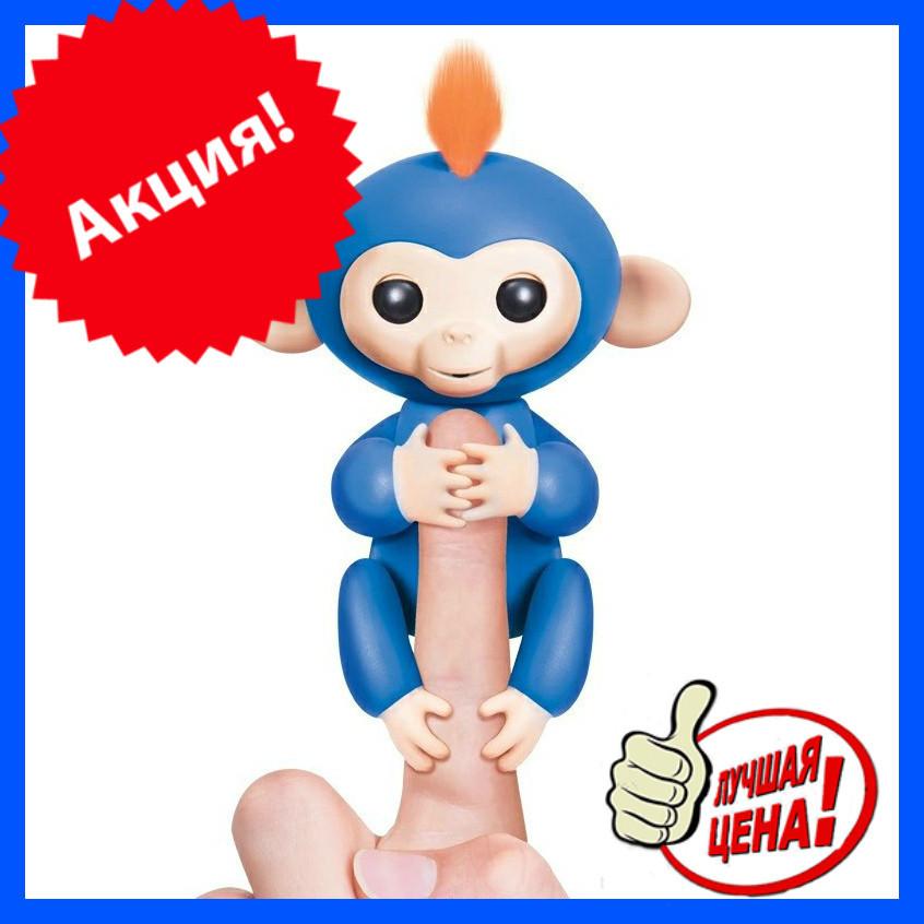ИНТЕРАКТИВНАЯ FINGERLINGS MONKEY l Игрушка обезьянка l Смешливая обезьянка синяя