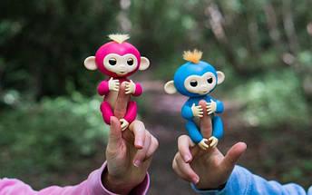 ИНТЕРАКТИВНАЯ FINGERLINGS MONKEY l Игрушка обезьянка l Смешливая обезьянка синяя, фото 3