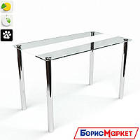 Обеденный стол стеклянный с прямоугольной столешницей Вектор от БЦ-Стол