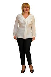 """Блуза """"Одилия"""" молочная с карманами - Модель 1326м"""