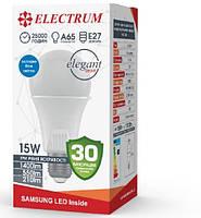 Лампа светодиодная диммируемая А-LS-1941 15W Elegant dimmable E27, Electrum
