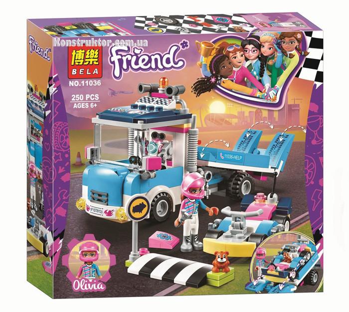 "Конструктор Bela 11036 ""Грузовик техобслуживания"" Френдс, 250 деталей. Аналог Lego Friends 41348"