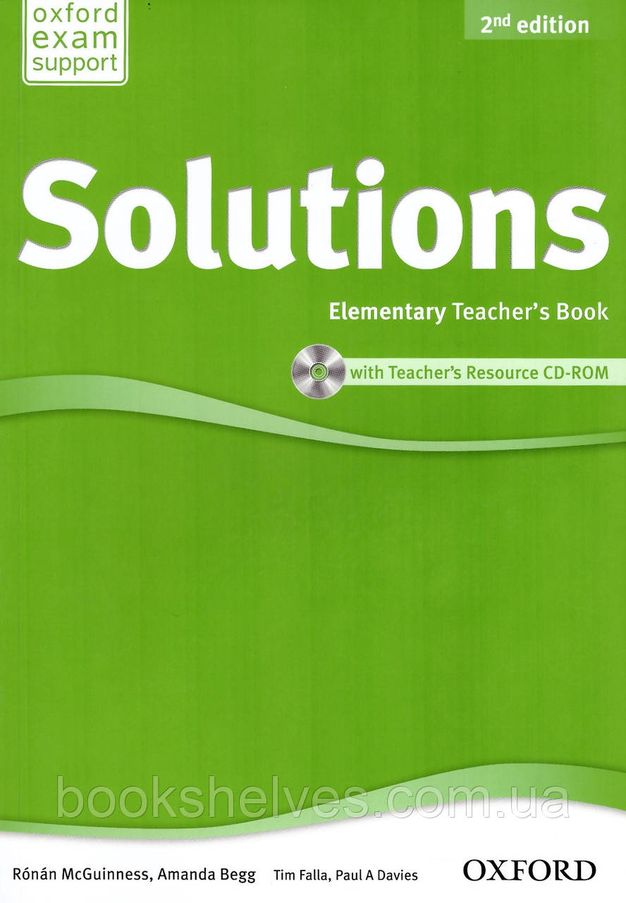 Solutions 2nd Edition Elementary Teacher's Book + CD-ROM