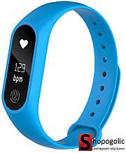 Фитнес Браслет M2 для Iphone и Android Голубой