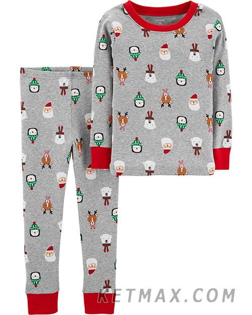 Новогодняя пижама Carter's унисекс