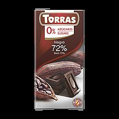 Шоколад TORRAS NEGRO 72% (Черный) 75г (48шт/ящ)
