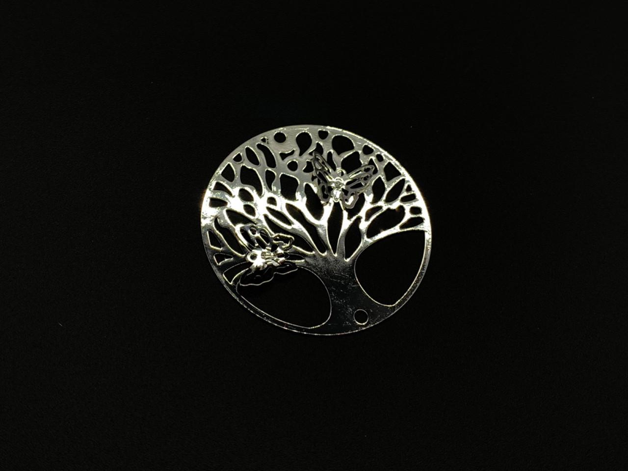Металлические изделия. Декор. Дерево с бабочками. 40мм