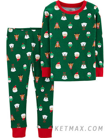 Новогодняя пижама Carter's унисекс, фото 2