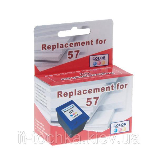 Цветной картридж microjet для hp dj 5550/psc 2110/2210  hp 57 color (hc-e02l)